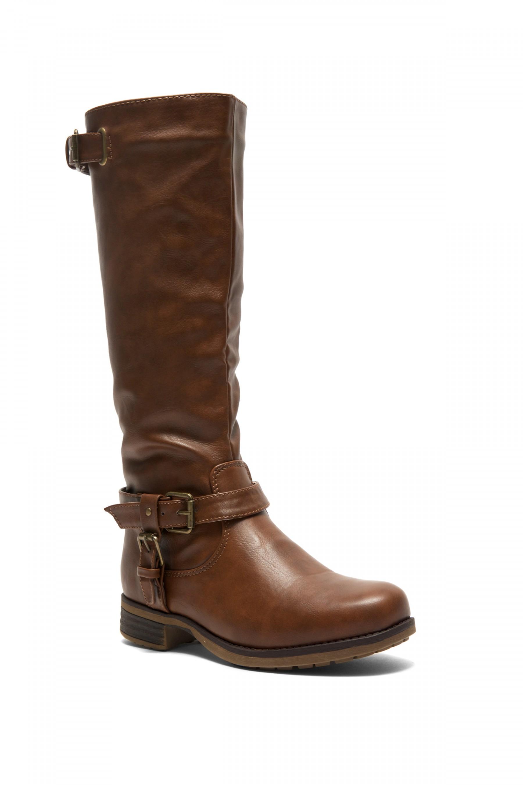 Zayylan Brown Riding Knee high Boots