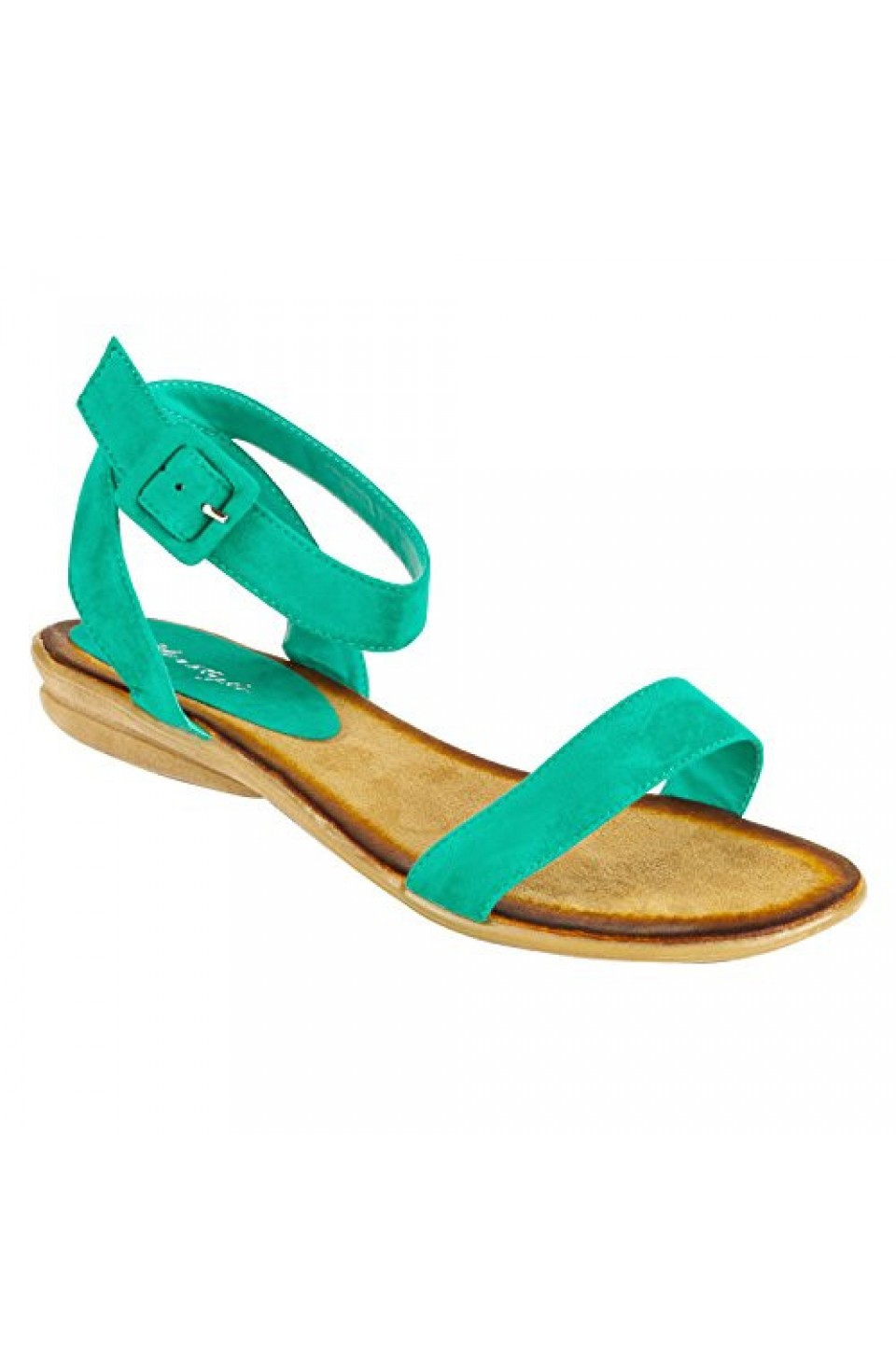 Women's Mint Campus Manmade Colorful Ankle Strap Casual Sandal