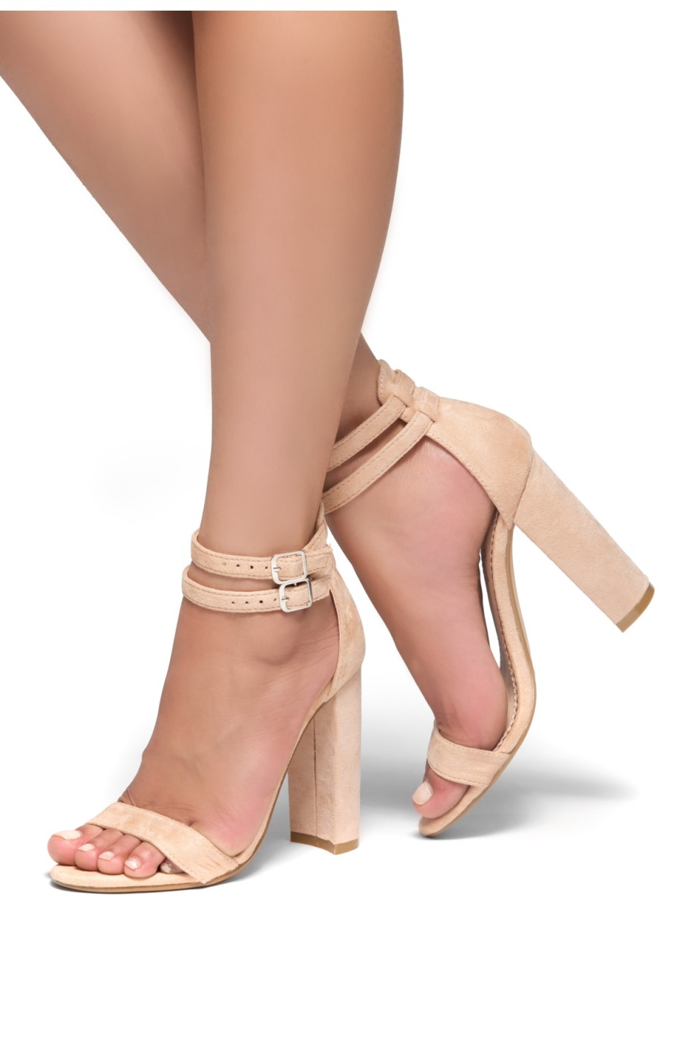 HerStyle Berttie Open Toe, Ankle Strap, Chunky Heel (Mauve)