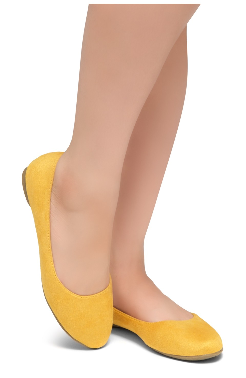 HerStyle Ever Memory -Almond Toe, No detail, Ballet Flat (Mustard)