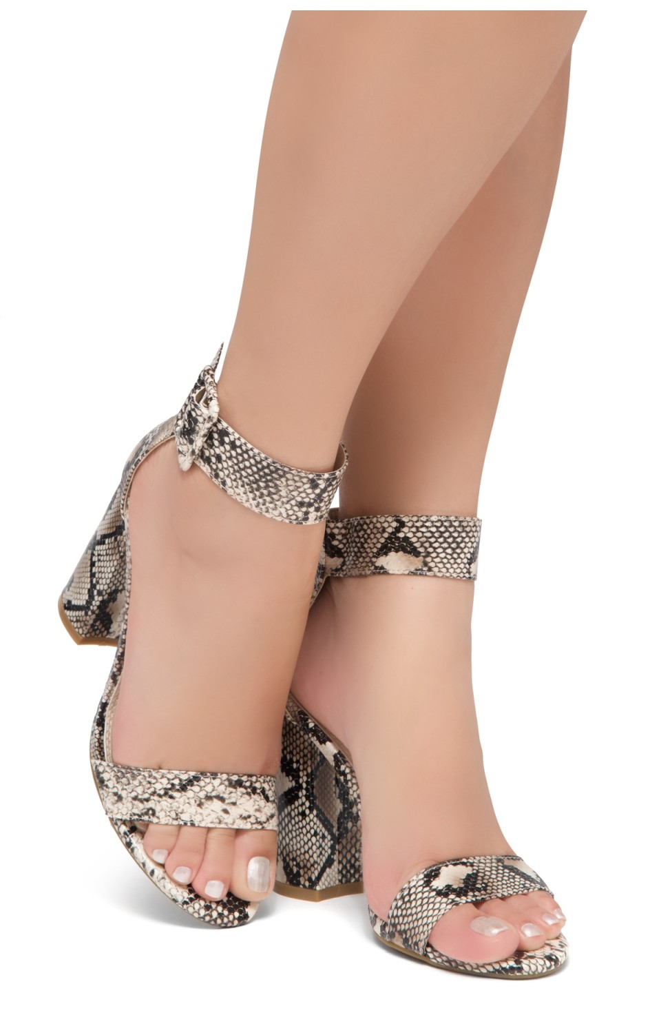 HerStyle Rumors-Chunky heel, ankle strap (Nat/Snk)