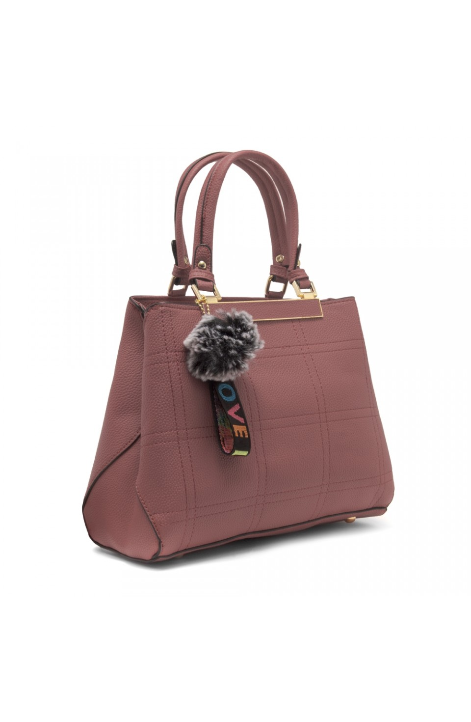 SLD-BAILY- High-end Pattern Elegant Tote Bag (Pink)