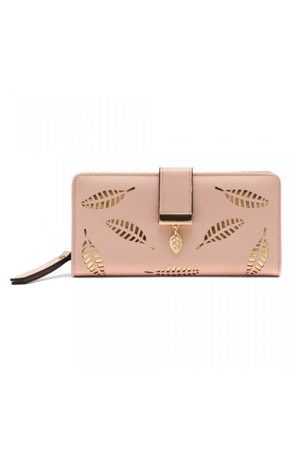 SZ17-LH1-15739 - Women's Wallet with Card slots and ID window Zipper Purse  (Pink)
