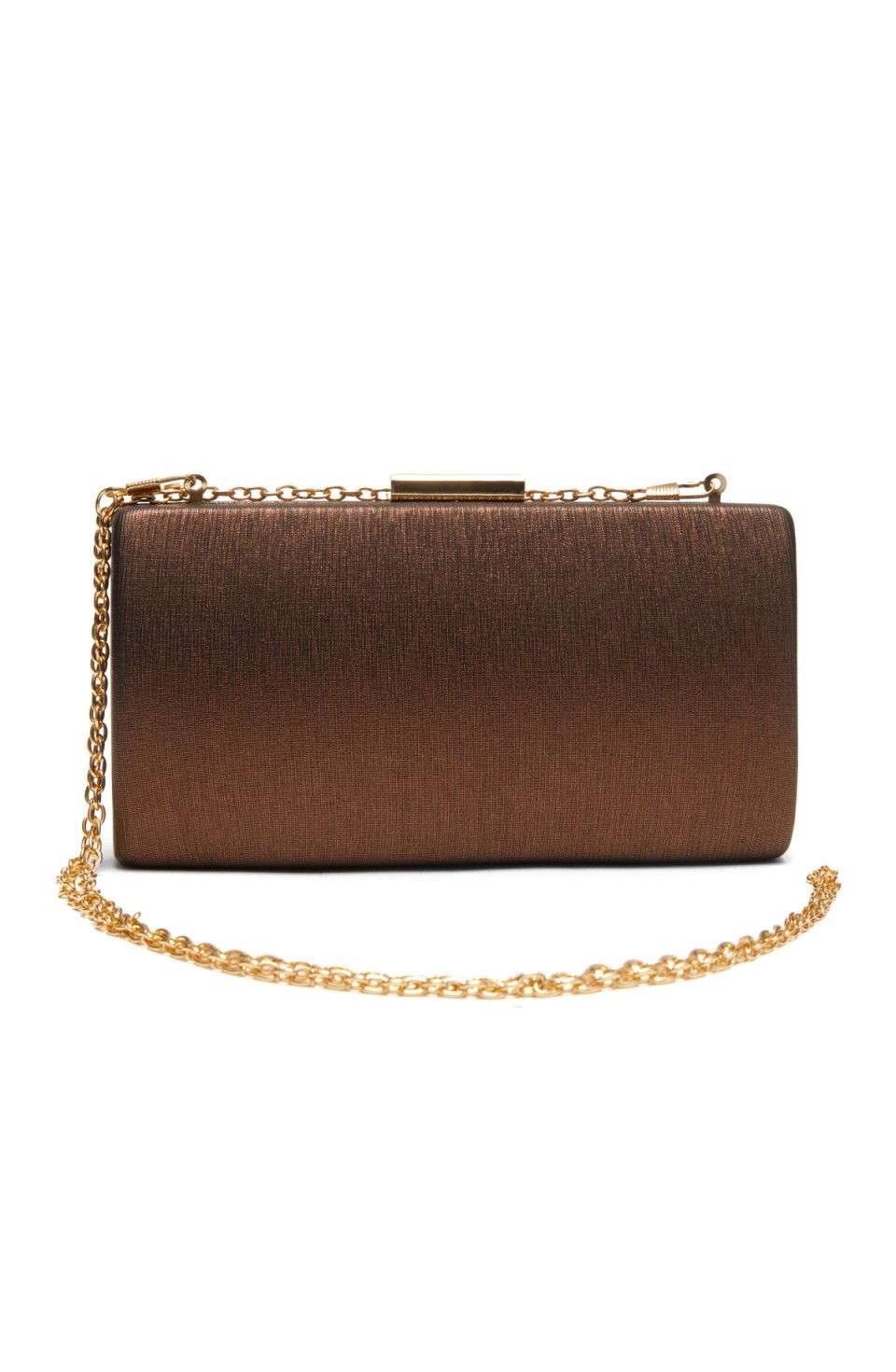 SZ9-16197- Georgeous classic look of hard case evening bag (Brown)