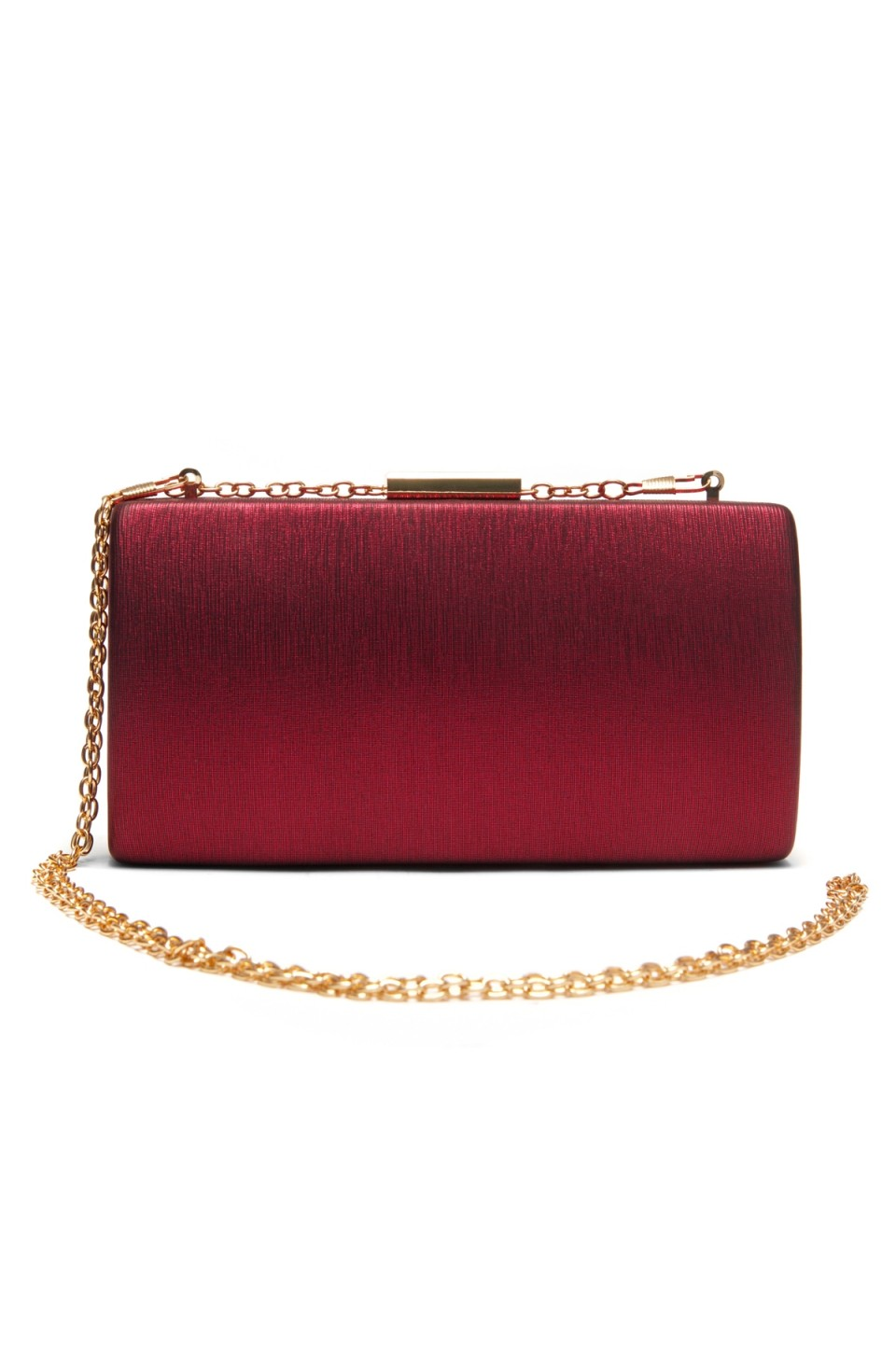 SZ9-16197- Georgeous classic look of hard case evening bag (Wine)