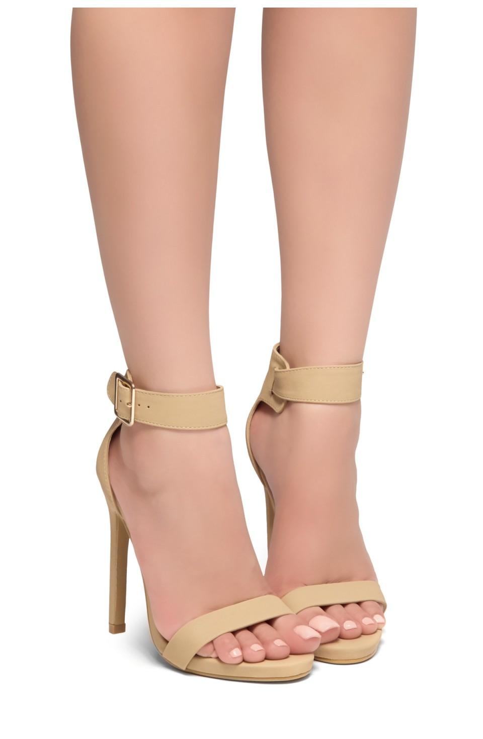 HerStyle Zoanna-Stiletto heel, Strap around the toe, Platform (Nude)