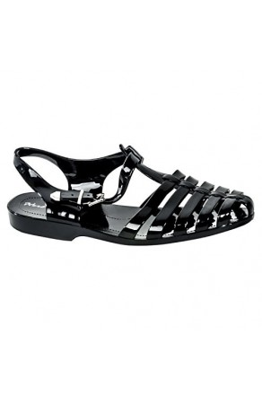 Women's Black Manmade Bequia Gladiator-Style Jelly Sandal