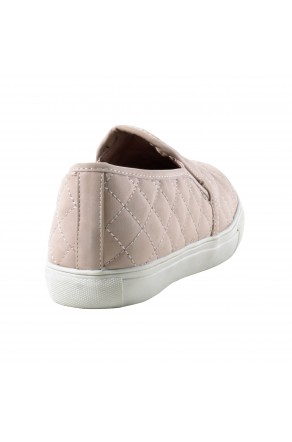Women's White Abley Quilted Comfort Flats