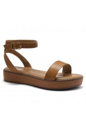 Herstyle Carli-Women's Platform Sandal Open Toe (1801Cognac/Brown)