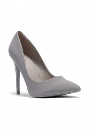 Women's Grey Pointed Toe Classic Pump EMUSE