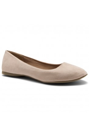 HerStyle Ever Memory -Almond Toe, No detail, Ballet Flat (Blush IM)