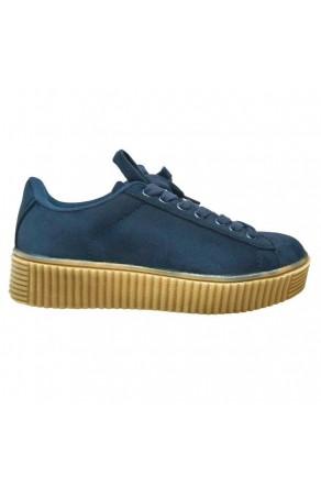 Women's Navy Platform Creeper Sneaker KATE