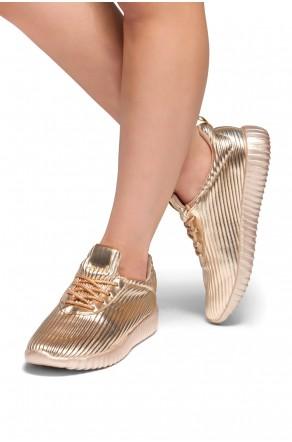 HerStyle Korriee lightly padded insole sneaker (RoseGold)