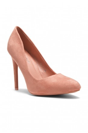 HerStyle Women's Manmade Korriie Faux Suede Almont Toe Stiletto Pump -Mauve