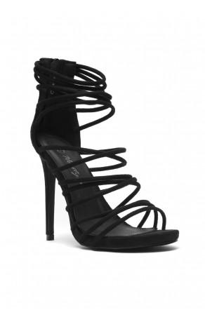 Women's Lenavia: Stiletto heel, strappy, peep toe - Black
