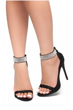 HerStyle Mesmerizing-Stiletto heel, jewel embellishments (Black)