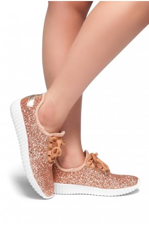 HerStyle Moniqie lightly padded insole sneakers (RoseGold)