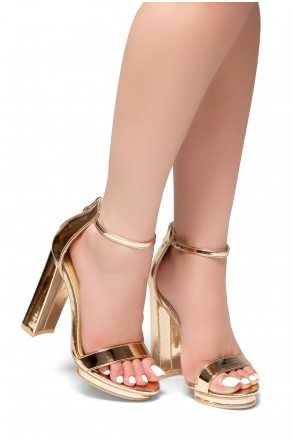 b111ca96c33 HerStyle NEW VIEW-Open Toe Chunky Heel Ankle Strap Sandals (RoseGold)