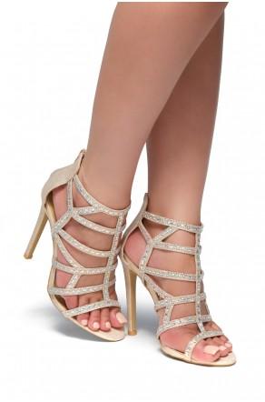 HerStyle Norta-Jewel embellishments, stiletto heel (Rose Gold)