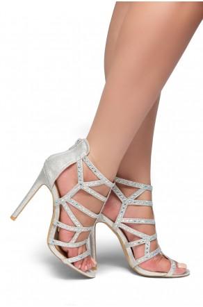 HerStyle Norta-Jewel embellishments, stiletto heel (Silver)