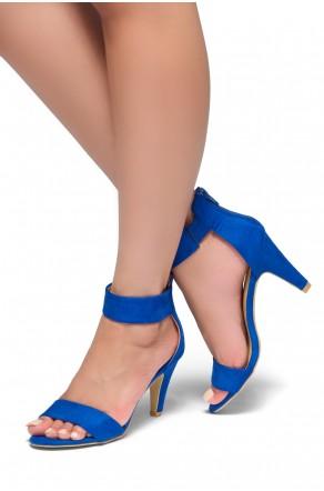 HerStyle Rose-Stiletto heel, back zipper closure (Royal Blue)