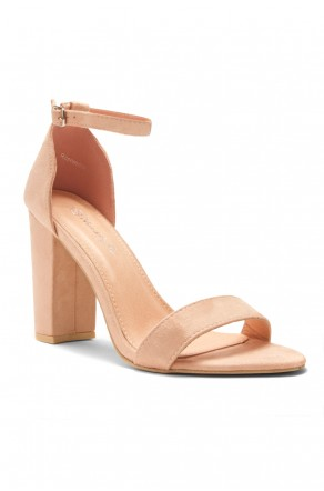 HerStyle Rosemmina Open Toe Ankle Strap Chunky Heel (Blush)