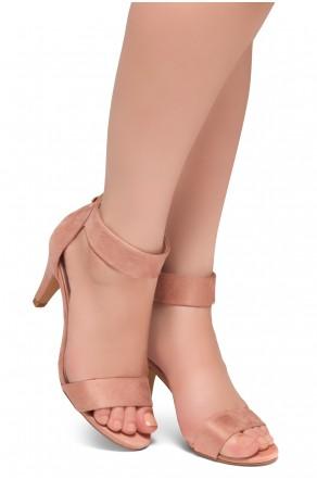 HerStyle RRose-Stiletto heel, back zipper closure (Blush)