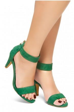 HerStyle RRose-Stiletto heel, back zipper closure (Green)