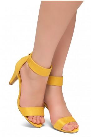 HerStyle RRose-Stiletto heel, back zipper closure (Mustard)
