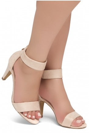 HerStyle RRose-Stiletto heel, back zipper closure (Nude)