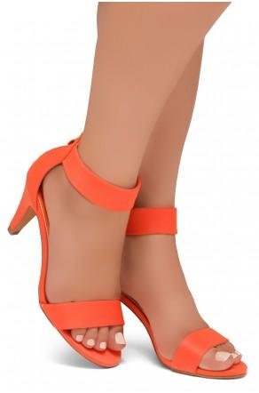 HerStyle RRose-Stiletto heel, back zipper closure (OrangeNeon)