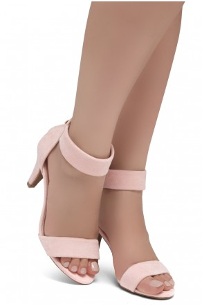 HerStyle RRose-Stiletto heel, back zipper closure (Pink)