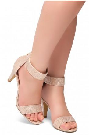 HerStyle RRose-Stiletto heel, back zipper closure (RoseGold)