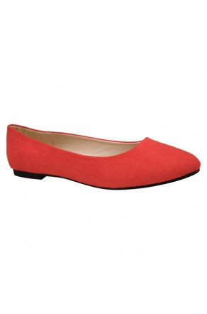 Women's Coral Manmade Sammba Colorful Ballet Flats
