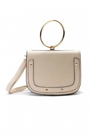 SHR-7065- Elegant Handcarry and Jewellery Stylish Ring Handle Bag (Beige)