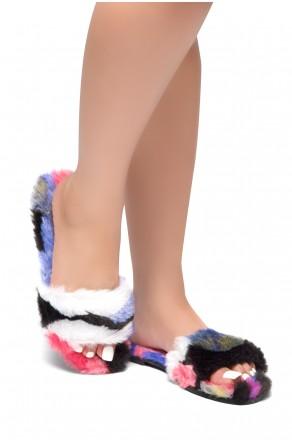 HerStyle SL-050317-Faux fur Sandals (Multi)