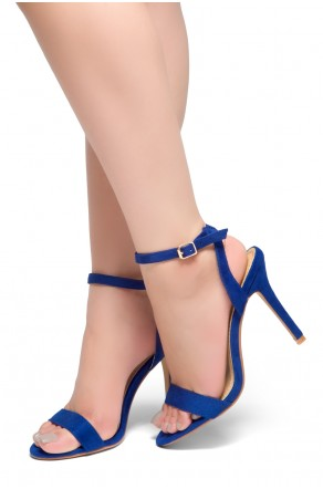 HerStyle Slay All Day-Open Toe Ankle Strap Stiletto Heel (RoyalBlue)
