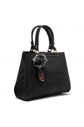 SLD-BAILY- High-end Pattern Elegant Tote Bag (Black)
