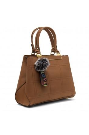SLD-BAILY- High-end Pattern Elegant Tote Bag (LightBrown)