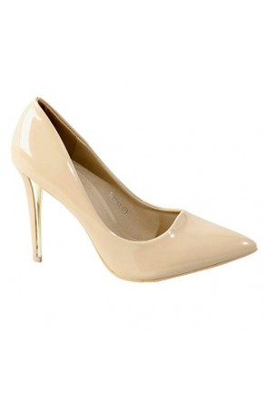 Women's Blush Manmade Stessy 4-inch Pointed Pump with Glossy Sheen