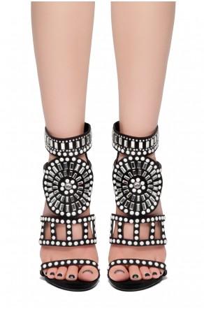HerStyle SUNDA stiletto heel, jeweled embellishments (Black)