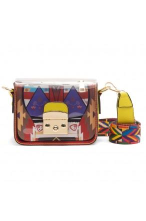 SZ11-LH2-16323 - Women's Cute Mini Transparent PVC Plastic Crossbody Bag (Yellow)