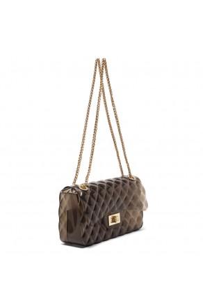 SZ17-LH2-16565L - Women's Trendy Fashion Crossbody Bag (Clear/Black)