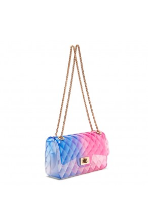 SZ17-LH2-16565L - Women's Trendy Fashion Crossbody Bag (Blue/Red)