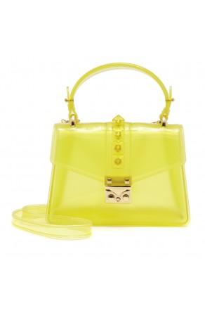 SZ17-LH2-16574 - Women's PVC Jelly Top Handle Bag (Yellow)