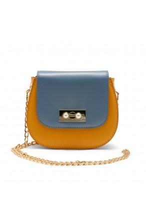 SZ17-LH2-16581 - Women's Fashion Design Mini Crossbody Bag (Blue/Yellow)