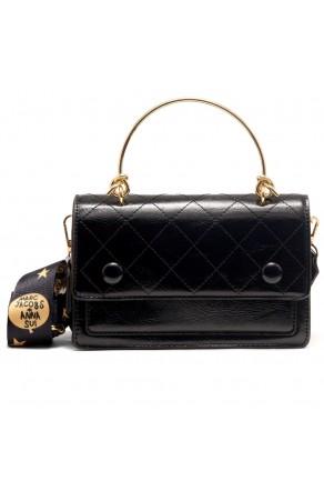 SZ17-LH2-16682 - Women's Fashion Design Top Handle Bag (Black)