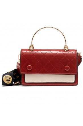 SZ17-LH2-16682 - Women's Fashion Design Top Handle Bag (Red/White)