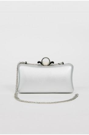 Feel So Glam Crossbody Clutch (Silver)