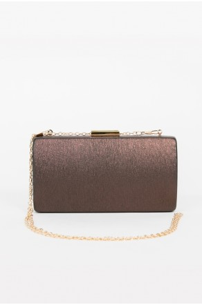 Shine Sister Crossbody Clutch (Brown)